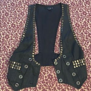 Black and Gold Forever 21 Vest